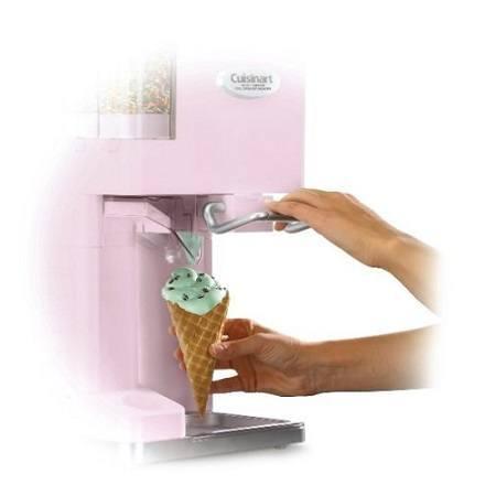 Soft Ice Cream Maker In Use